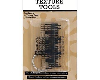 Flexible Plastic Ranger Texture Tools - Six Designs INK44567 fnt