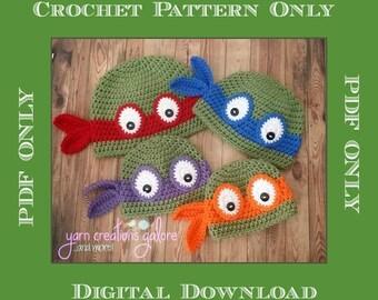Ninja Turtle Crochet Pattern *** PDF FILE ONLY