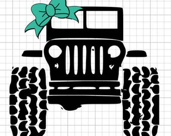 Jeep Girl with Bow