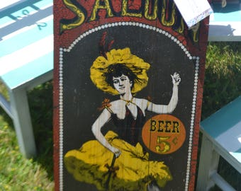 Saloon Girl Sign