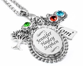 Mothers Necklace, Birthstone Necklace, Mom Jewelry, Mothers Day Necklace, Necklace for Mom