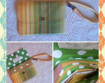 Wrap scrap phone wristlet wallet
