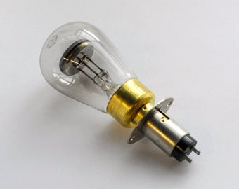 Giant neon light bulb with heavy duty metal socket - General  Electric NE42 bulb