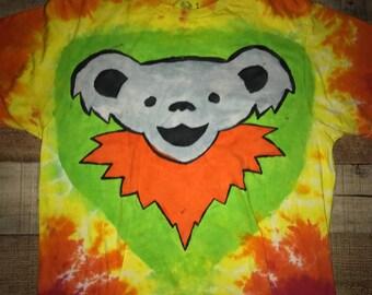 Vintage Grateful Dead Dancing Bear Tie Dye
