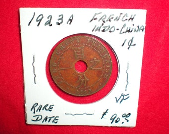 1923A French Indochina Indochine .01 Rare Date Coin REDUCED