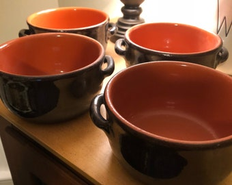 4 Clay Soup bowls