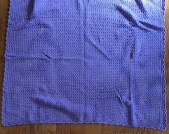 Baby blanket handmade lavender
