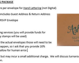 Custom Handwritten Notes, Invitations, Envelopes
