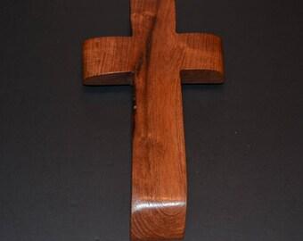 Wood Cross; Christian; Cross Wall Decor; Wood Gifts; Wedding Gift; Live Edge; Mesquite; Wall Cross; Free Ground Shipping USA; cc20-1061917