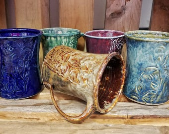 Pottery coffee cup / pottery coffee mug / coffee mug / coffee cup / handmade mug / handmade coffee mug / handmade coffee cup / Unique Gift