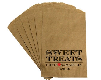 Wedding Favor Candy Bags - Antique Rustic Victorian Cottage Chic - Sweet Treats -  Wedding Candy Buffet Treat Bags