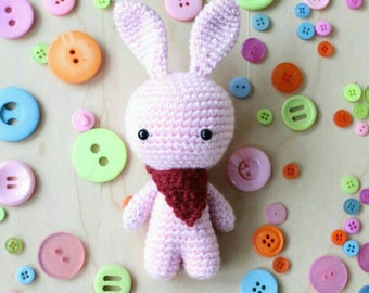 Bunny with scarf as a pendant for mobile or similar, crochet DIY
