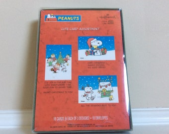 Peanuts Cute Christmas Card Assortment 18 Cards and Envelopes, Hallmark.