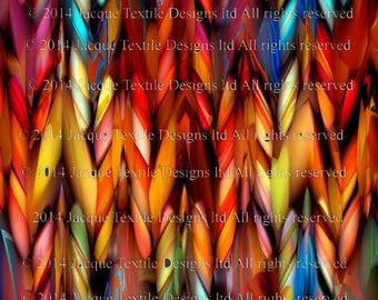 Artisan Made Kona Cotton Quilting Textile Art Fabric Panel Fiber Art Mythical Colors Braid