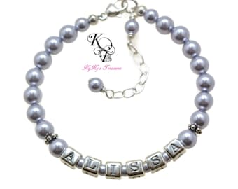 Baby Name Bracelet, New Baby Gift, Personalized Baby Bracelet, Baby Girl Bracelet, Baby Gift, Baby Girl Gift, Baby Keepsake Gift
