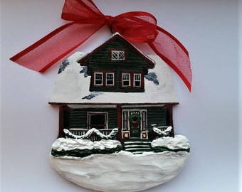 Custom listing for- OhGloriousDayShop- one Custom House Ornament