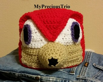 Crochet knuckles from sonic the hedgehog beanie