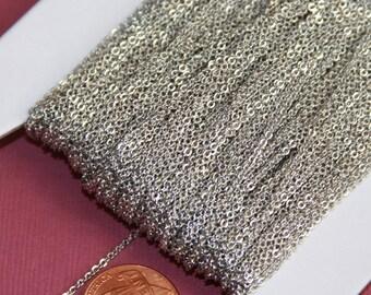 32 pi de Antique Silver Plated très plat soudé chaîne du câble 1. 2 mm