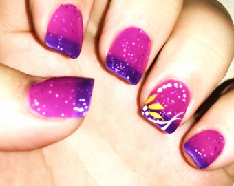"""Color Changing Thermal Nail Polish - """"Echo"""" - Temperature Changing-Custom Blended Polish/Lacquer -FREE U.S. SHIPPING"""