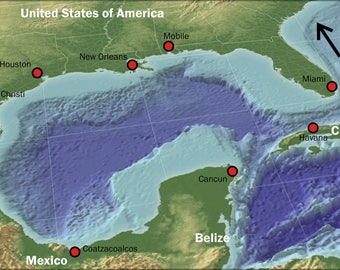 Poster, Many Sizes Available; Gulf Of Mexico Places