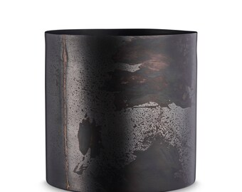 Black Metal Flower Pot by H. Skjalm P. - 10 cm, 14 cm, 18 cm