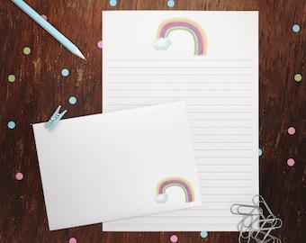 Kleine Regenbogen Brief Schreibset