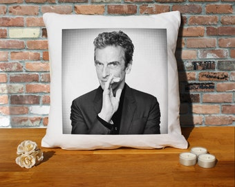 Peter Capaldi Pillow Cushion - 16x16in - White