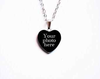 CUSTOM Heart Cameo Pendant With Your Photo - Custom Pendant - Custom Necklace - Custom Jewelry -Personalized Handmade Cameo Pendant Necklace