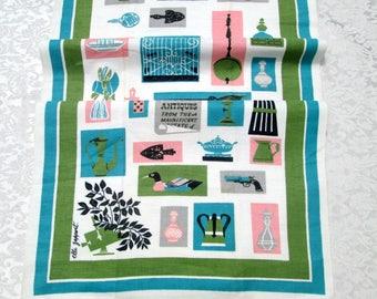 Vintage Startex Towel Kitchen Linens Designer Signed Elli Zappert Wonder Dri Americana Dish Cloth Mid Century Hand Tea Towel Vintage Linens