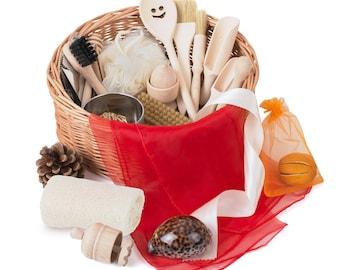 Montessori Treasure Basket - Educational Wooden Toy - Xmas gift