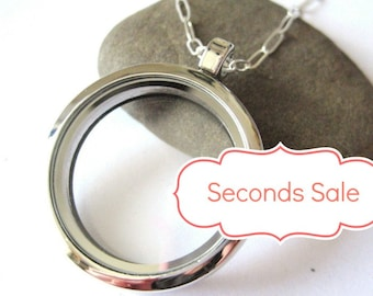 LARGE Glass Memory Locket - SECONDS SALE