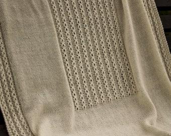 PDF Knitting Pattern - Sleepy Time Blanket