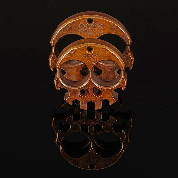 """Compact Brass Skully Multi-Tool, .5"""""""