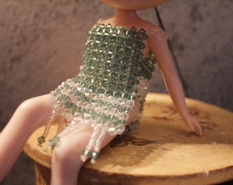 OOAK Blythe dress authentic Swarovski Crystal