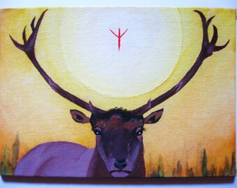 Elk Spirit Totem Painting