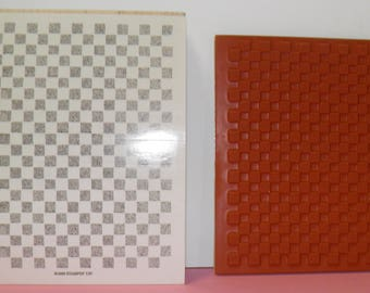 Stampin Up - Checkerboard Rubber Stamp
