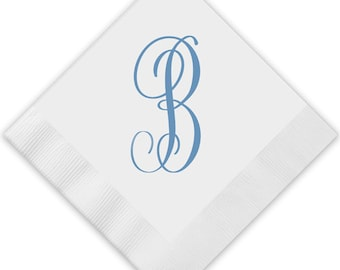 Single Monogram Napkins, Monogram Guest Towels, Wedding Napkins, Party Napkins, Custom Monogram, Assorted Colors for napkin and monogram
