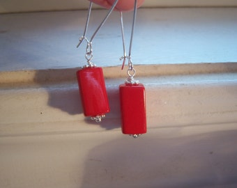 Red Earrings - Vintage Red Earrings