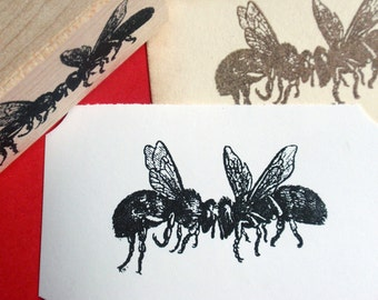 Bee Rubber Stamp Wedding Love - Handmade by Blossom Stamps