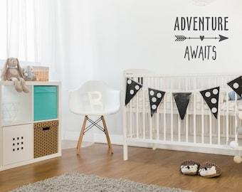 Life is an Adventure Wall Decal | Adventure Awaits Wall Decal | Baby Boy Nursery | Arrow Decal | Aztec Nursery Decor