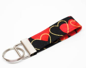 Valentine's Day Key Chain / Key Fob / Wristlet - Choose the lenght