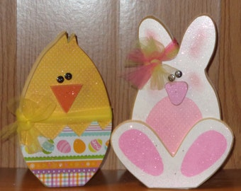 Easter Decor, Spring Decor, Bunny or Chick
