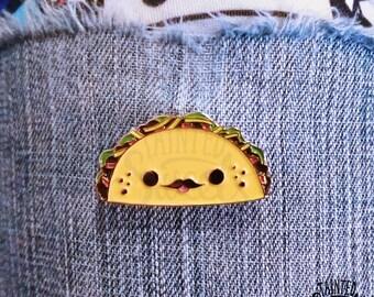 Señor Taco Enamel Pin