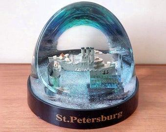 Souvenir. Pencil. snow ball c sequins (Aurora). Saint Petersburg, Russia.