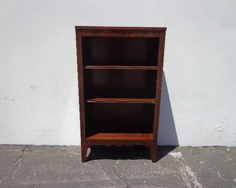Antique Bookcase Bookshelf Display Case Etagere Unit Media Storage Mahogany Victorian Traditional Shelf Bookshelves TV Stand Wood Table
