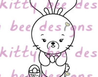 Easter Bun Digital Stamp