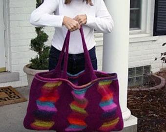 Iknitiative Knitting Pattern Zig Zag Bag Part No. A09 DISCONTINUED