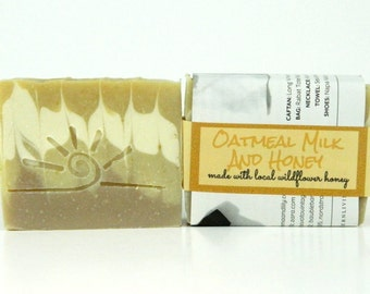 Oatmeal Milk and Honey / Scented Soap Bar / Cold Process Soaps