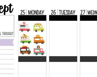 60 Food Truck Planner Stickers