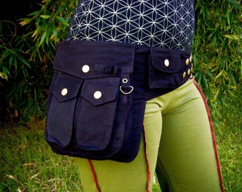 The Ultimate Saddle Bag - Utility Bag - Vegan - Cotton Canvas - Black